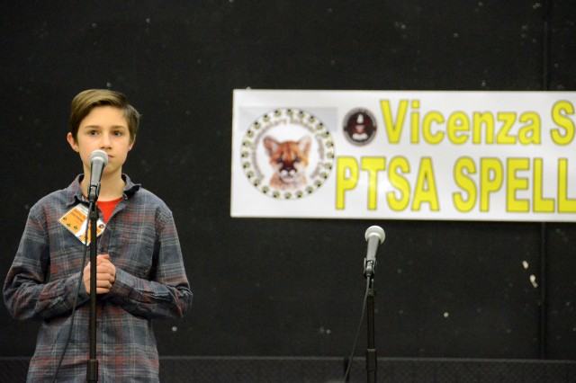Championship Bee 2019 brought challenges and hard-fought word battles to this year's competition on the evening of Jan. 30 in the Vicenza Elementary School/Vicenza Middle School Multi-Purpose Room/Cafeteria.