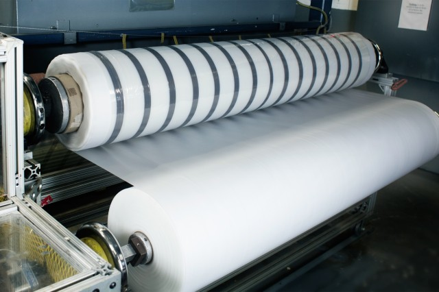 ManTech provided the necessary funding to advance manufacturing technology, including automated pop-up tape processing in a roll-to-roll manufacturing process, which is a continuous process that reduces material handling between manufacturing steps.