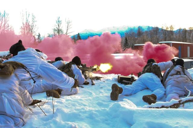 Geronimo trains in snow