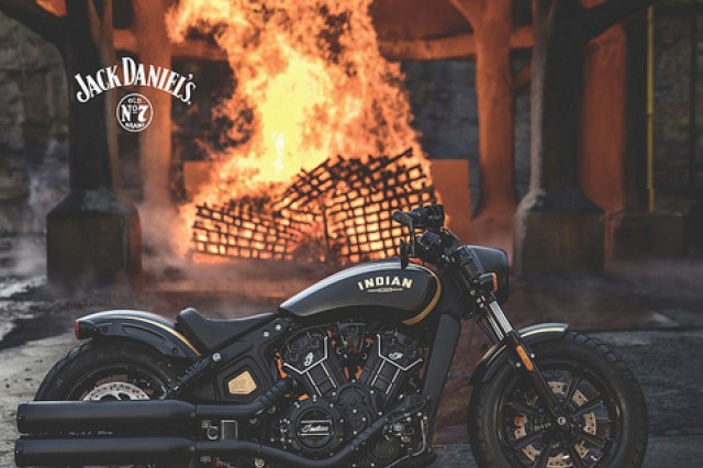 One lucky Army & Air Force Exchange Service shopper will be riding off into the sunset on a 2018 Indian motorcycle soon in the Jack Daniel's 2018 Indian Motorcycle sweepstakes. Authorized Exchange shoppers, including honorably discharged veterans, are eligible to enter to win Feb. 1 through April 30.