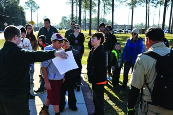 Boy Scouts of America Troop 475's Cody Rozhon, 14, planned and organized a community event Jan. 26 on Fort Stewart, marshalling volunteers to help revitalize Warriors Walk prior to an upcoming tree dedication ceremony on Feb. 5.