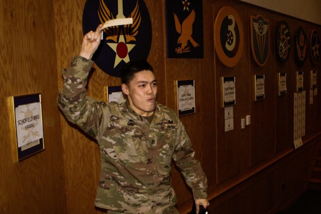 The Class of 2019 chose their first Army post assignment Feb. 6. The cadets will report to their first assignments after completion of basic officer leaders course. (U.S. Army photo by CDT Marta Grivins)