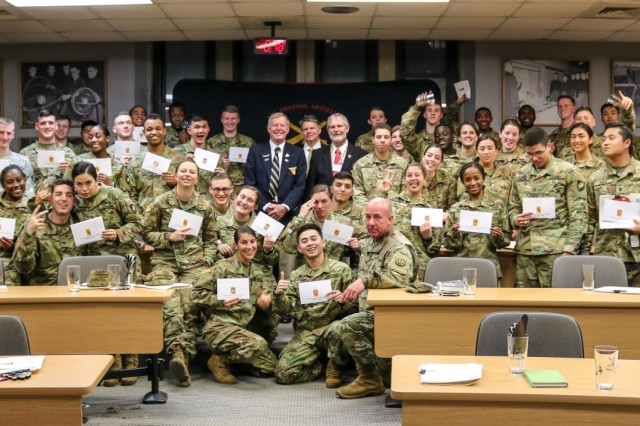 Class of 2019 Post Night.  (US Army Photo by CPT Leo Correra Jr.)