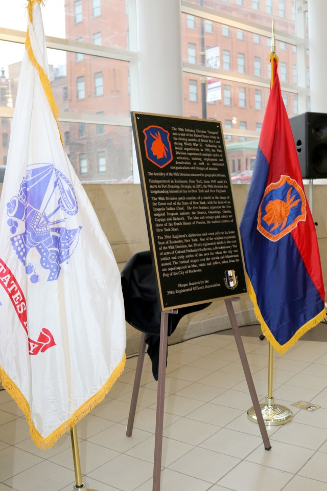 Bronze plaque honors 98th Training Division in New York