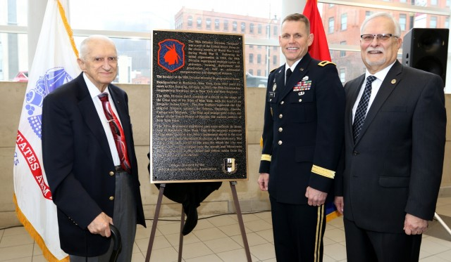 Past and present commanders of 98th Training Division attend ceremony in New York