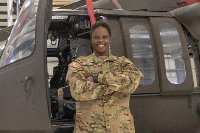 Chief Warrant Officer 2 Cicely Williams is an aviation pioneer after becoming the first African-American female UH-60 Black Hawk pilot in the Nevada Army Guard.
