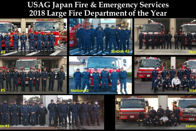 USAG Japan Fire and Emergency Services is the 2018 Installation Management Command-Pacific Fire Department of the Year -- Large Category.