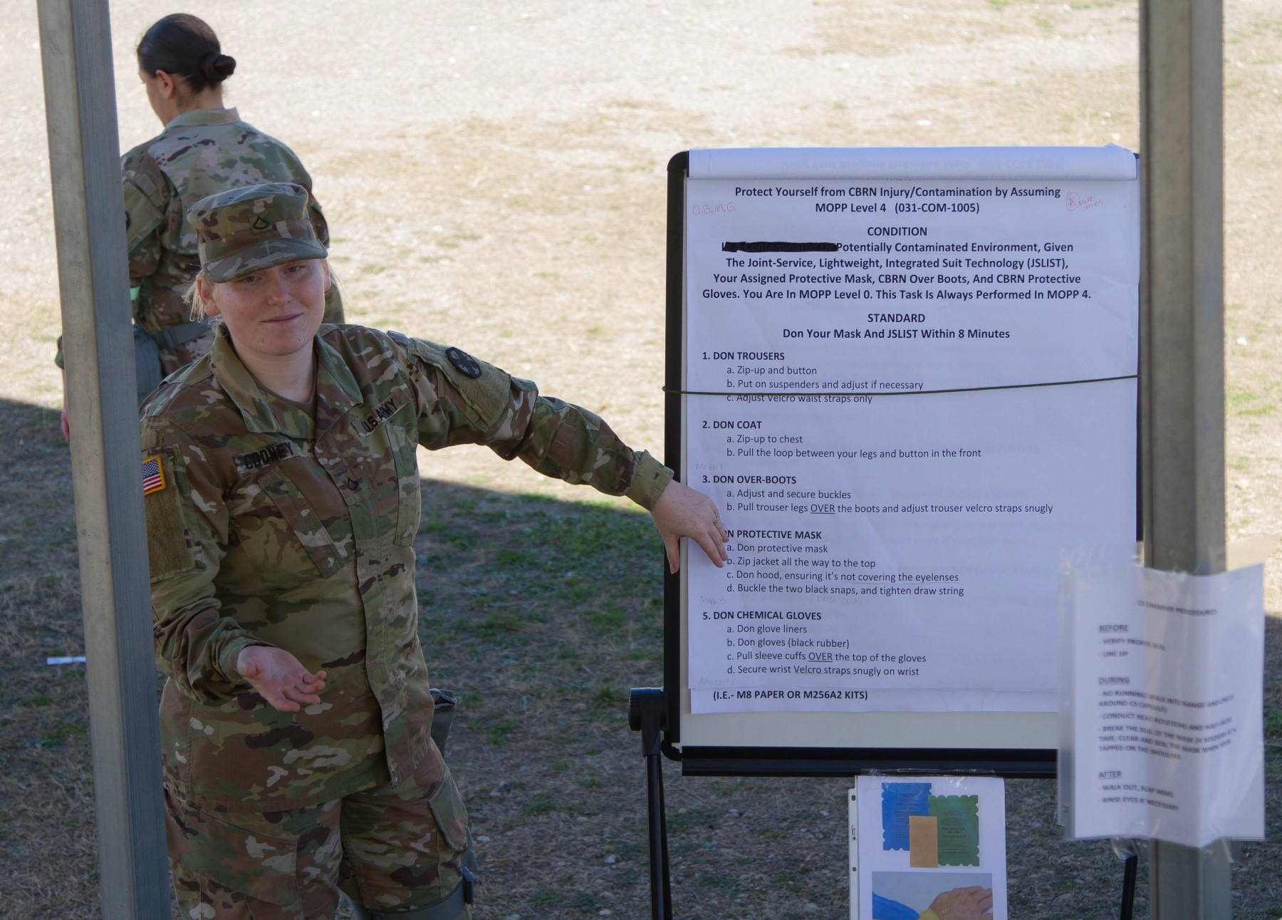 Soldiers train with new chemical, biological, radiological and