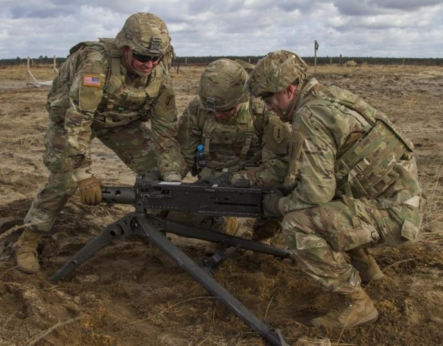 Soldiers from the 3rd Battalion, 66th Armored Regiment and the 1st Squadron, 4th Cavalry Regiment, both with the 1st Armored Brigade Combat Team, 1st Infantry Division based out of Fort Riley, Kansas,
