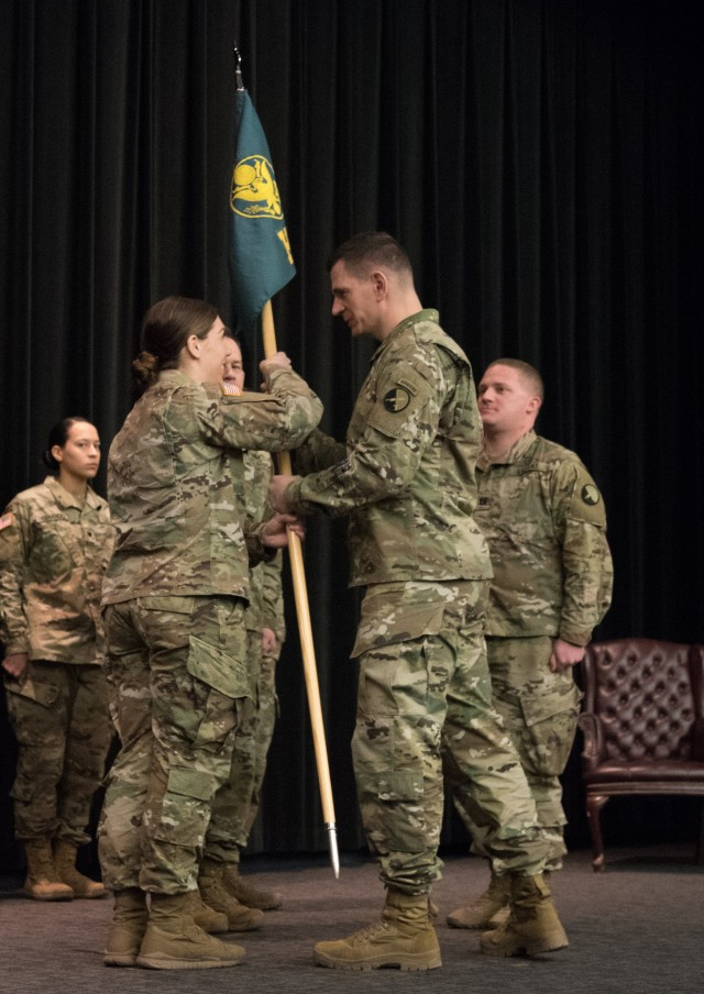 Headquarters and Headquarters Detachment, 1st Information Operations Battalion, welcomes new commander