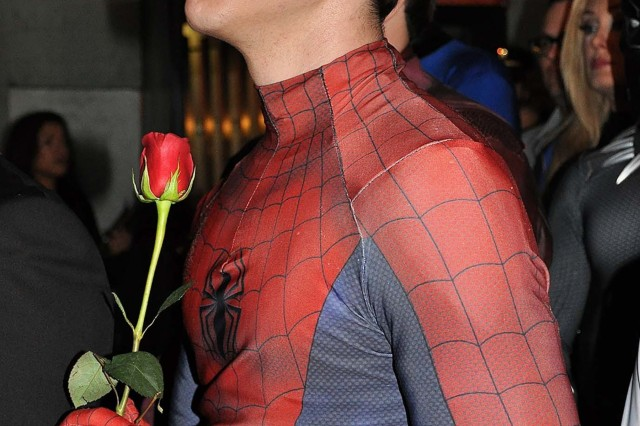 "A cosplayer dressed as Spiderman holds a single red rose while listening to friends and fellow colleagues of Marvel Comic book creator Stan Lee pay tribute to him during ""Excelsior! A Celebration of the Amazing, Fantastic, Incredible and Uncanny Life of Stan Lee"" Jan. 30 at the TCL Chinese Theatre in Hollywood, Calif. The event was a memorial tribute to Lee, Marvel comic book writer, editor, publisher and co-creator, who died in November 2018. Lee was an Army veteran and former writer in the U.S. Army Signal Corps during World War II."