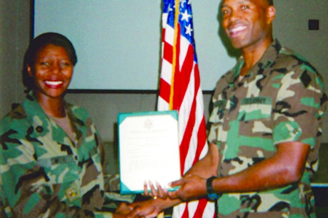 Jennie Smith-Height has served the Department of Defense for more than 33 years, including 20 years active duty with the U.S. Army. She was promoted to the rank of sergeant first class in 1999. (Photo: U.S. Army Chemical Materials Activity Public Affairs Office)