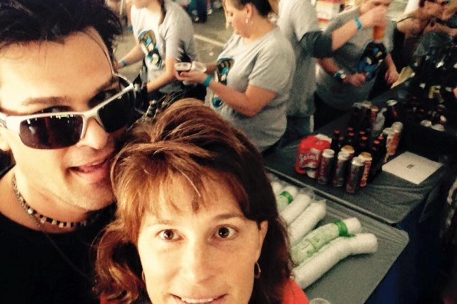 """My baby brother and """"me"""" at a Brew Taste--when he was in town we enjoyed time together."""