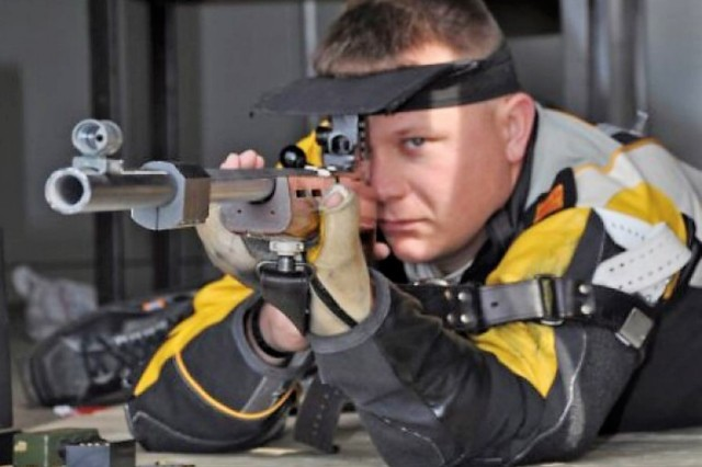 Olson has retired from the Army and competitive shooting, but now wants to try new sports and, hopefully, represent Team Army at the 2019 Department of Defense Warrior Games in Tampa Fla., 21 - 30 June.