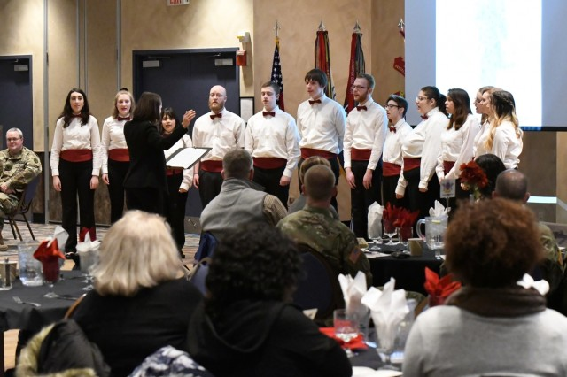A performance from the Jefferson Community College Choir was among the highlights of the annual African American/Black History Month observance Feb. 20 at Fort Drum, New York. (Photo by Mike Strasser, Fort Drum Garrison Public Affairs)
