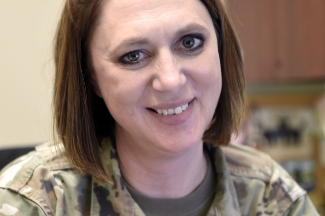 Wyoming Army National Guard 1st Sgt. Diane Smith, the coordinator of the Wyoming Counterdrug Program.