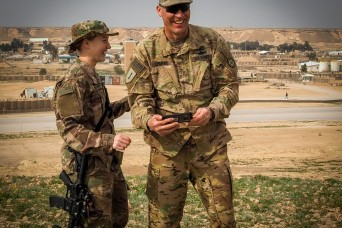 Deployed father and daughter reunite