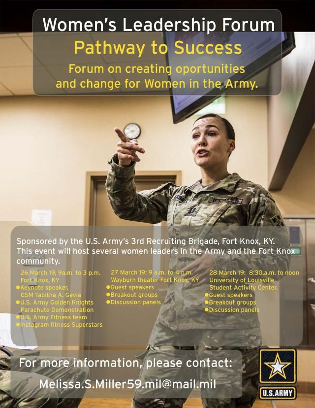 Flyer for Women's Leadership Forum