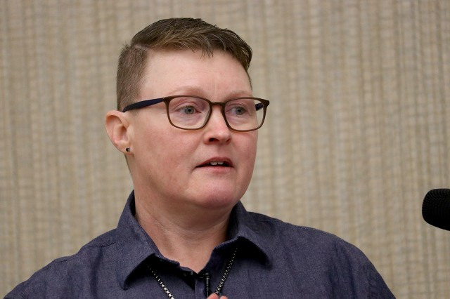 Tara Spears, a registered nurse who is Madigan Army Medical Center's Trauma Program manager, gave the conference insight into the multidisciplinary world of trauma medicine in the Puget Sound area at the 10th annual Lt. Col. Juanita Warman Nursing Excellence Conference hosted by Madigan Army Medical Center's Medical-Surgical Nursing Service Feb. 22 at the American Lake Conference Center on Joint Base Lewis-McChord, Wash.