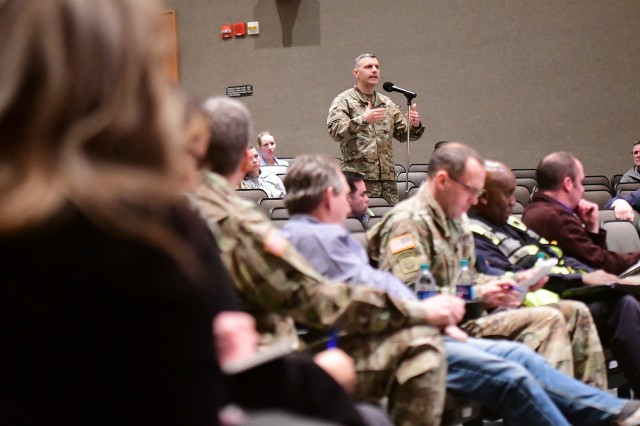 A Fort Knox housing resident echoes other concerns brought up during the second listening at Fort Knox's Waybur Theater March 4, 2019.