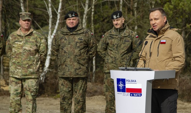 Fighting First Soldiers celebrate 20 years of NATO with Polish
