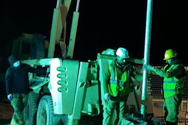 At about 1:30 a.m. the pump is staged to be placed back in its original position.