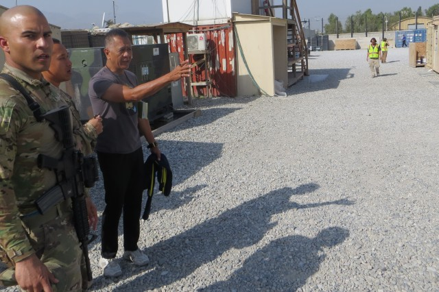 565th FEST team assessing an issue at one of the bases in Afghanistan.