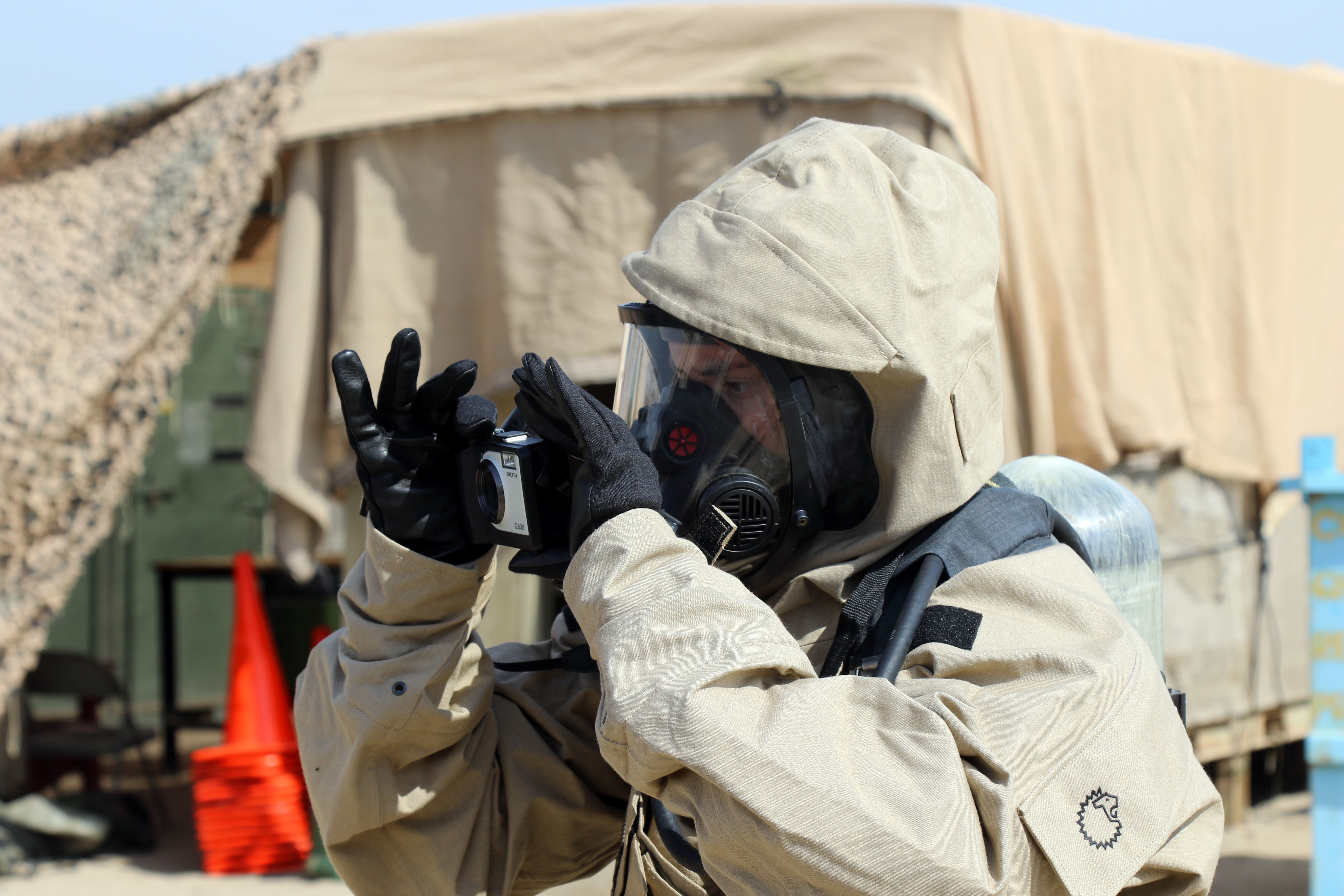 Soldiers share Chemical, Biological, Radiological, and Nuclear