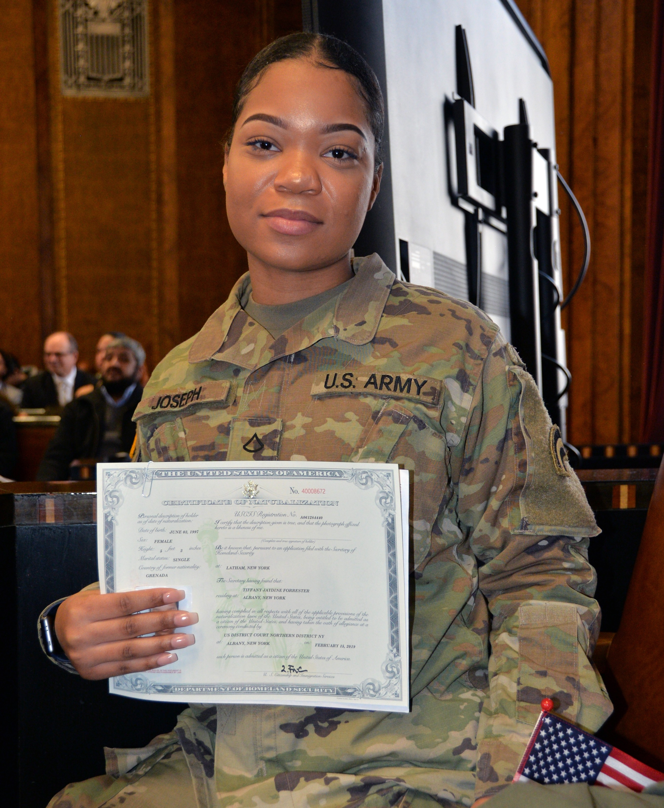 Tradition: N Y  Army National Guard Soldiers become citizens