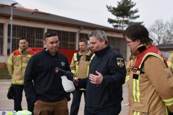 USAG RP firefighters, 773rd CST practice decon procedures