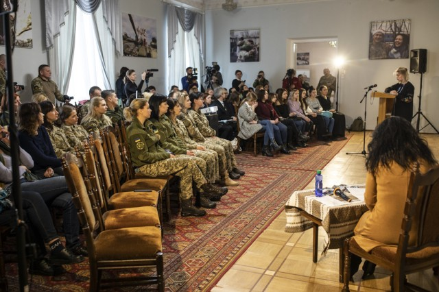 """An international women's day event """"the International Forum Regarding Gender Politics in the Defense Sector"""", was held at the Ministry of Defense building in Lviv, Ukraine, March, 5."""
