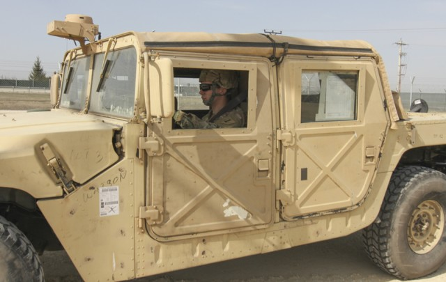 Soldiers conduct drivers training