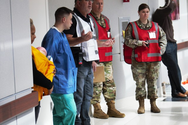 To evaluate the readiness of their Soldiers and Civilians during a natural disaster, U.S. Army Medical Department Activity -- Fort Stewart, Winn Army Community Hospital participated in a joint, two-phase, multi-service, vertical evacuation exercise.