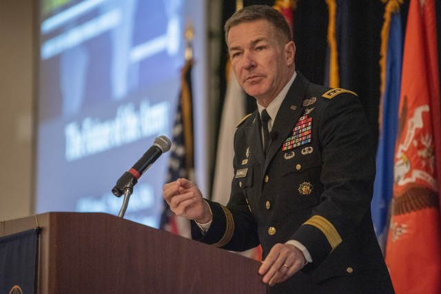 Soldiers in the signal, cyber and intelligence career fields could benefit from the Army's upcoming talent management system as leaders seek Soldiers with specialized skills, Army Vice Chief of Staff Gen. James C. McConville said at an Army signal conference in Springfield, Va., March 12, 2019.