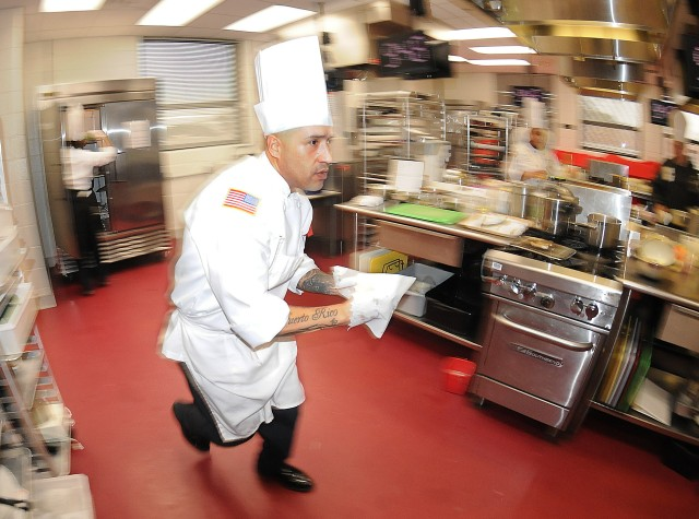 Fort Campbell's top chef rushes to complete meal