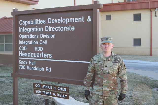 Capt. Ray Ryan, a threat analyst assigned to Capabilities Development and Integration Directorate at Fort Sill, Okla., details his journey from an immature, though patriotic private, to an Army ROTC cadet struggling with a demanding schedule to become an officer.
