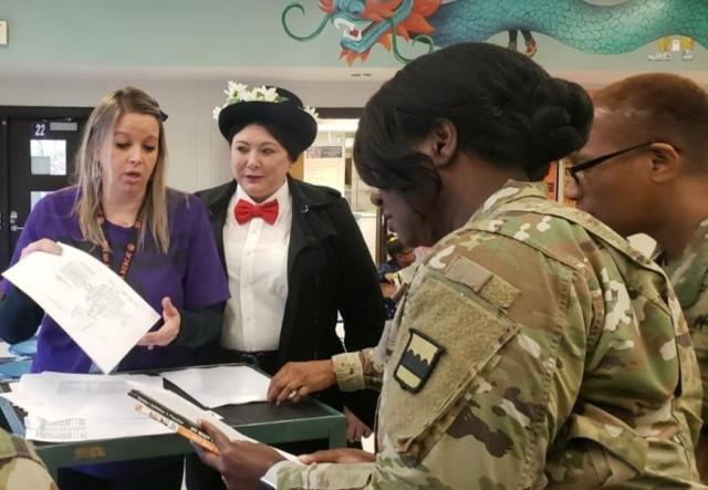 80th Training Command celebrates Read Across America with school children