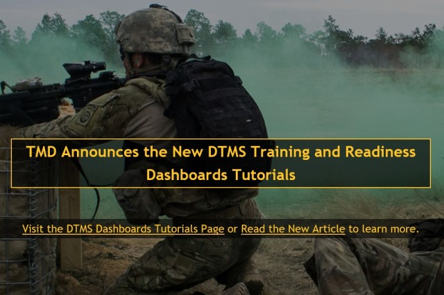 TMD Announces the New DTMS Training and Readiness Dashboard Tutorials