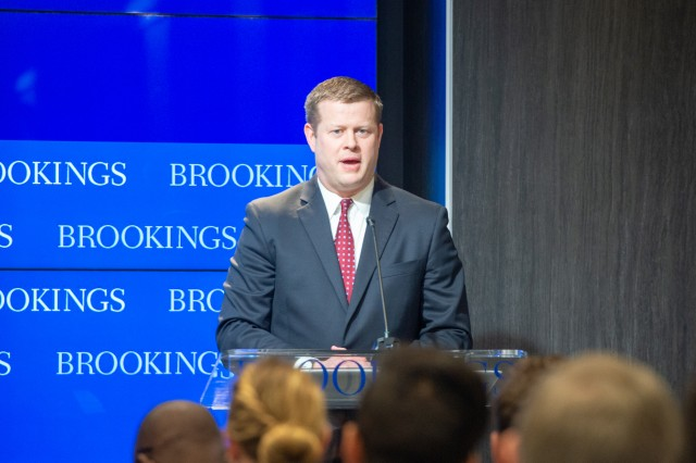 As part of the release of the proposed fiscal year 2020 budget, more than $57 billion in a five-year defense plan will be dedicated to modernization and other signature Army programs, the Undersecretary of the Army Ryan D. McCarthy said during a discussion at The Brookings Institution March 14, 2019, in Washington D.C.