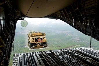 Soldiers conduct airdrop, road tests of new JLTVs