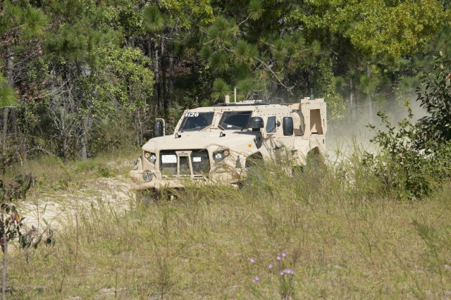 Soldiers from 407th Brigade Support Battalion, 2nd Brigade Combat Team, 82nd Airborne Division participate in road tests and vehicle familiarization as part operator's training on the Joint Light Tactical Vehicle (JLTV). These Soldiers serve as equipment operators for the duration of the aerial delivery phase of testing at Fort Bragg, N.C.