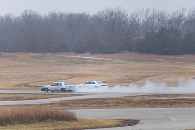 A driver races to lose a tailing aggressor following the ambush.