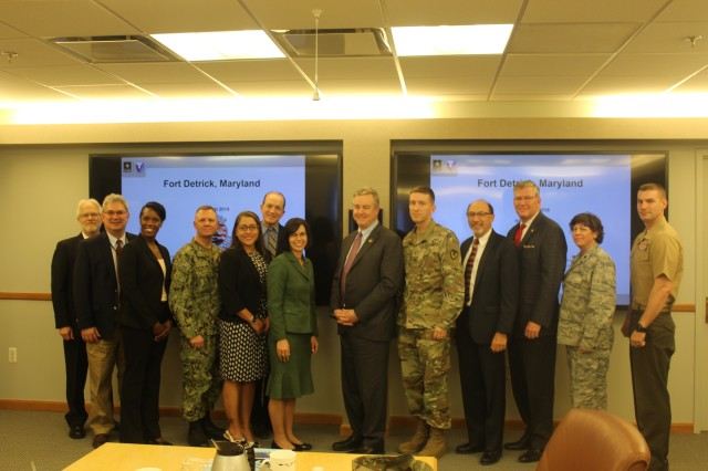 Maryland Congressman David Trone visits Fort Detrick on March 15th to meet with leaders across the installation to learn about the unique work that contributes to global security and the health and well-being of our Nation.