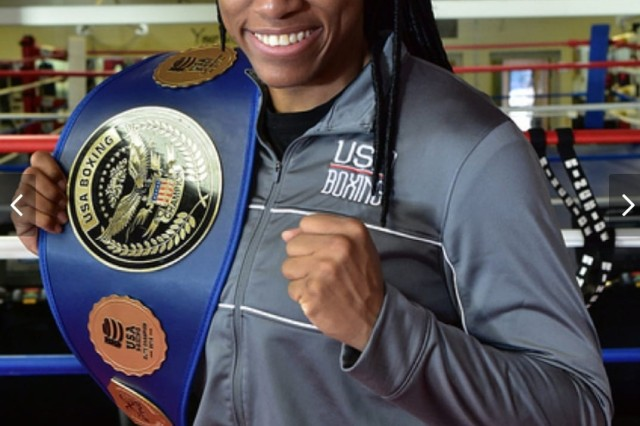 Staff Sgt. Naomi Graham proudly displays the championship belt after winning the USA Boxing national middleweight title for the second time in December.  She went on to be named the 2018 Under Armour Elite Female Boxer of the Year. This year so far she has won a bronze medal at the 2018 AIBA World Championships in New Delhi, India, and gold at the 2019 Strandja International Boxing Tournament in Sofia, Bulgaria.