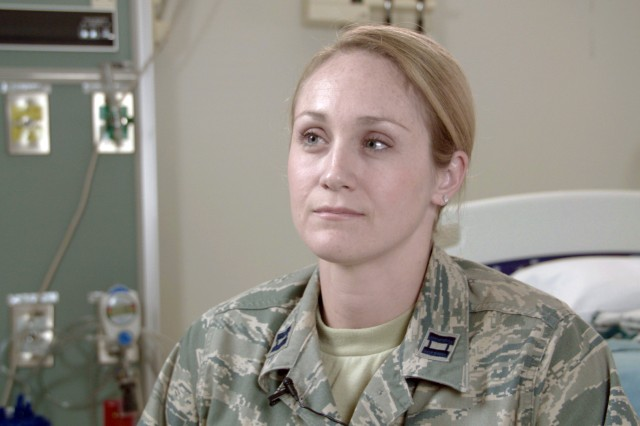 Air Force Capt. (Dr.) Lauren Lee, hematology/oncology fellow at Brooke Army Medical Center, reflects on the care BAMC staff members provided Alexis Piper, a patient with sickle cell anemia, who nearly died from a rare condition called hyperhemolysis. Hyperhemolysis syndrome is a potentially fatal transfusion complication. Many BAMC staff members collaborated to find a treatment for the life-threatening condition.