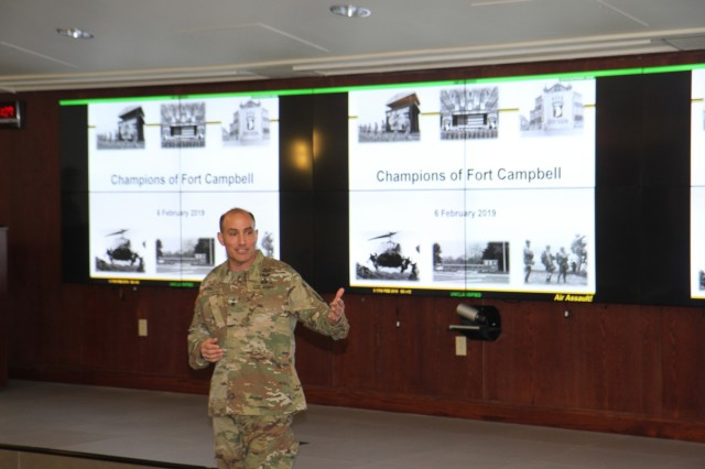 Fort Campbell held its 2019 Champions of Fort Campbell Induction Ceremony at the 101st Airborne Division (Air Assault) headquarters. Donald Cochran, United States Attorney for the United States District Court for the Middle District of Tennessee, Sandra Cochran, President and Chief Executive Officer of Cracker Barrel and Charlie Koon, VP Corporate & Military Business Development of F&M Bank were honored. (U.S. Army Photos by Pfc. Lynnwood Thomas, 40th Public Affairs Detachment)