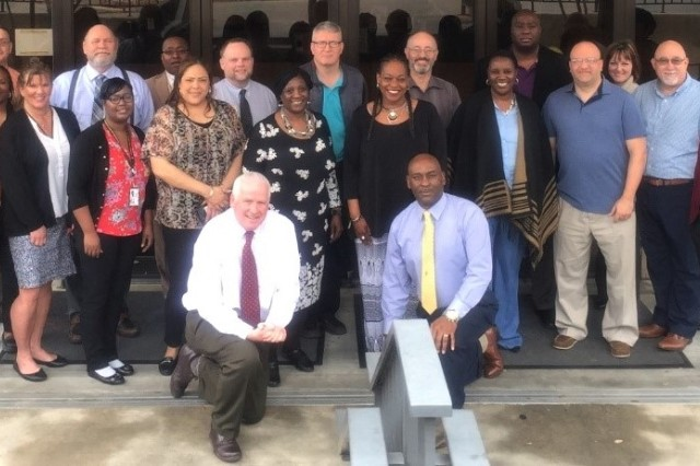 The staff and attendees of the Suicide Prevention Program Managers Course held in San Antonio, Texas.