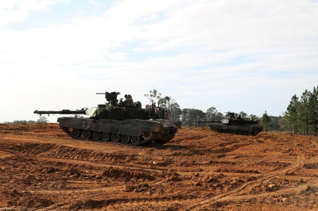 Tankers from the 2nd Battalion, 7th Infantry Regiment, 1st Armored Brigade Combat Team in defensive positions during Marne Focus at Fort Stewart, Ga. Marne Focus is the culminating home station training event designed to validate the mission readiness of the 2nd Brigade Combat Team, 3rd Infantry Division as they prepare for their upcoming rotation to the National Training Center at Fort Irwin, CA.