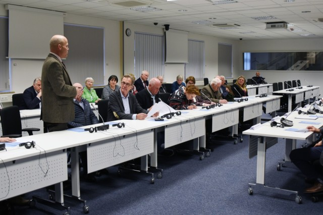 GARMISCH-PARTENKIRCHEN, Germany (March 12, 2019)  -  The Friends of the Marshall Center held its annual meeting at the George C. Marshall European Center for Security Studies March 12, as part of the Marshall Center's community relations strategy. (DOD photo by Christine June/RELEASED)