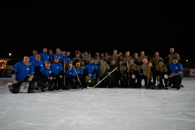 2nd annual Broomball game